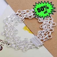 LQ-H013 Free Shipping Wholesale Jewelry Fashion Bracelets, 925 Silver Bracelets nice special looks ccqakt yatlg