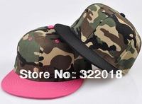 Wholesale 6pcs 2013 NEW Men Women Camo Flat Bill Baseball Hats Mens Camouflage Snapback Hat Womens Flat Brim Cap Snap Backs Hat
