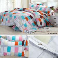Free Shipping Bedding Set Korean Style Fashin 3PCS/4PCS Sheet Cover Pillowcase Set For Sales 100% High Quality Velure Cotton