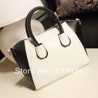 2013 women's handbag candy color block handbag  smiley bag 7 colors PU leather multi color free shipping