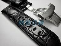 Pam31239011124mm button butterfly buckle handmade crocodile skin watchband customize