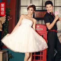 Love 2013 high waist dress princess dress bridesmaid dress sexy bride dress