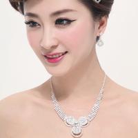 Love wedding accessories the bride necklace bride chain sets accessories necklace earrings twinset