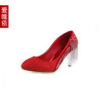 Love bride wedding shoes medium hells shoes platform shoes bling women's single shoes 2013 wedding shoes