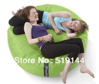 Free shipping The original Island design green round huddle beanbag chair, sleeping bed, big bean bag sitting relax cushion