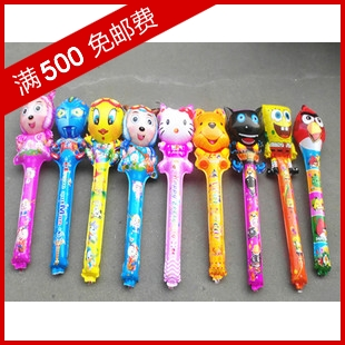 Cartoon inflatable stick balloon blow stick radiant beauty goat 20 bag hot-selling(China (Mainland))