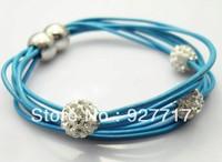 Кожаный браслет Fashion Punk Men's Leather Bracelet, Braided Leather Bracelet, Mens Leather Jewelry