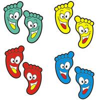 Wall stickers small footprint cartoon wall stickers child sticker