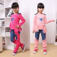 Комплект одежды для девочек Children'S Clothing Child Set 100% Cotton Cartoon Set