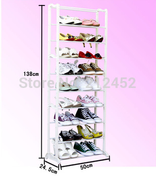Best selling high quality shoe rack shelf bulk wholesale stainless steel+ABS10layers foldable easy assemble shoe storage hanger