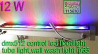 Professional lighting dmx rgb 12w 24v ip65 led dmx512 wall decoration lighting,waterproof indoor outdoor commercial lighting