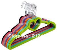 Free Shipping12Pcs/LOT Quality Flocking Hanger,Non-slip Hangers Magic Hangers, Racks Hangers For Clothes