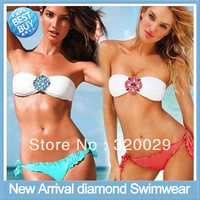 Women's Bikinis rhinestone diamond swimwear women New Arrival bikini set Strappy Sexy for Women swimsuit Free shipping