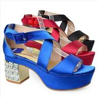 Free shipping bargain price 2013 new  European and American retro fashion rhinestone platform shoes sandals women shoes