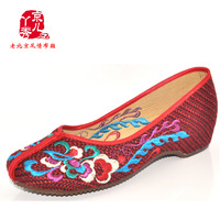 Cotton-made beijing shoes women's shoes elevator shoes cotton-made embroidered linen shoes national trend a412-23