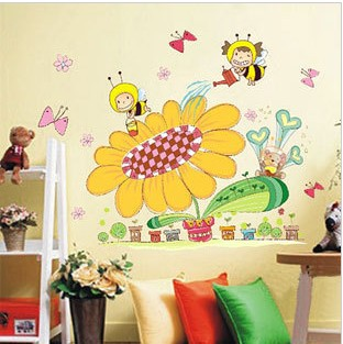 Three generations of wall stickers child real baby sticker