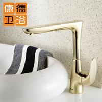 Fashion gold counter basin single hole hot and cold basin faucet mixer faucet (KP)