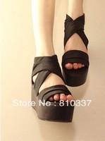 NEW Sexy Hollow out Women Shoes Pump Platform Peep Toe Buckle High Heel Sandal Girl Lady casual dress fashin gift free shipping