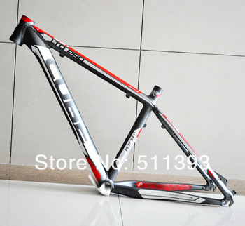 CUBE LTD Aluminum alloy Mountain bike frame/ bicycle frame /mtb bike frame 26*16/18 inch Gray with Red color 1640/1770g