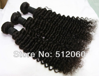 "deep curly brazilian virgin hair weave, 12""-30"", natural color,100% unprocessed ,3pcs/lot , DHL free shipping"