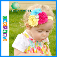 New arrival 3 flower together with diamond kids headband for baby girls children headbands