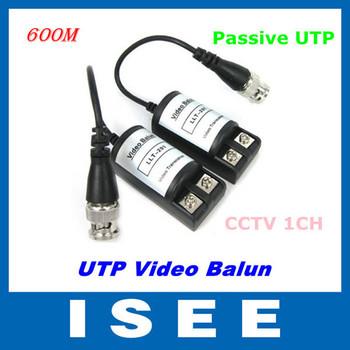 Big sale  50 pair 100pcs CCTV 1CH Passive UTP Video Balun Transceiver BNC Cat5 LLT-201C  Free Shipping