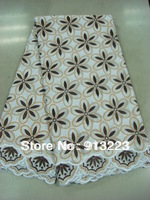 New Design African Fabric,Sequins Lace,Embroidery Swiss Voile Lace,Free Shipping A208