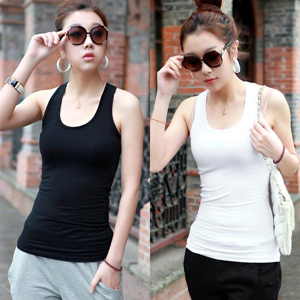 Tank 100% all-match female cotton vest female basic(China (Mainland))