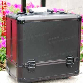free shipping Professional trolley make-up bags cosmetic box nail art supplies storage box black