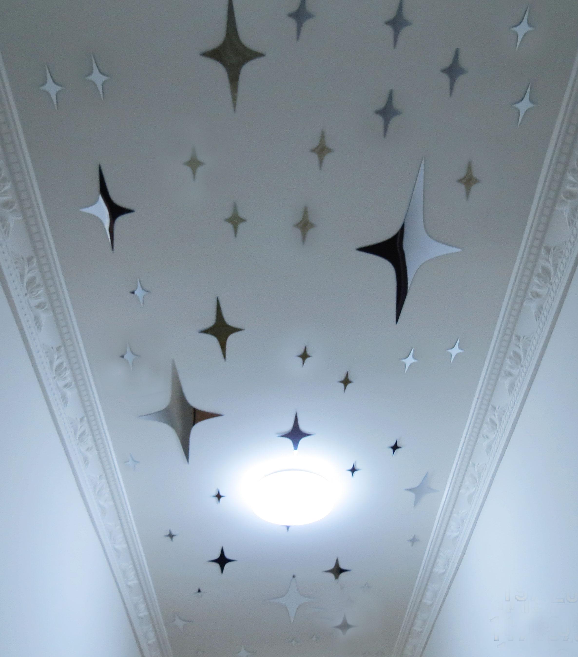 Autocollants plafond toil promotion achetez des for Miroir au plafond pourquoi