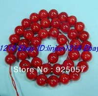 Natural Red 10mm Coral  Round Loose Bead 15''Fashion jewelry
