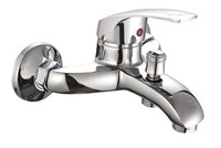 Shower faucet bathtub faucet mixing valve single and double hot and cold taps