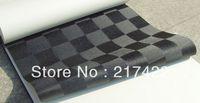 Black Square Grid Wallpaper Modern Brief Mosaic Effect Decoration