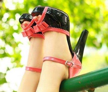 high heel sandals Модный Женщины dress sexy shoes Кожа P6472 EUR Размер 34-45