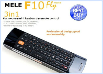 50Pcs Wholesale Mini wireless keyboard&fly air mouse MELE F10,black Remote Controller For Android TV Set Top Box( Htpc ) Use