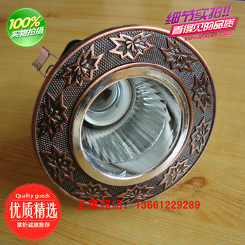 Antique lamp american fashion chinese style classical downlight led bulb lamp trepanned 7.5cm