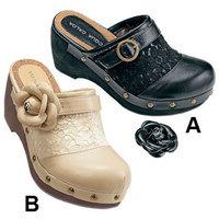 Rivet shoes clogs slippers sweet lace flower sandals platform