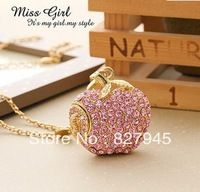 Jewelry Crystal Bling Apple Shaped USB Flash Drive 4GB 8GB 16GB 32GB 64GB Free Shipping