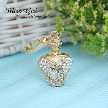 Miss girl gold series sweet perfume bottle pendant
