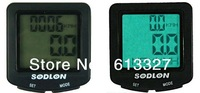 18 Functions Bicycle Speed Counter with Waterproof and Backlight LCD Display, Speedometer, Odometer