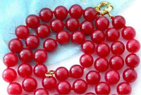 Excellent! Natural 8mm Red Ruby Round Beads  Necklace 35'' nnb11258   Fashion jewelry