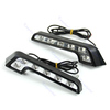 1pair  6 LED White Universal Car Auto Driving Lamp Fog 12V DRL Daytime Running Light