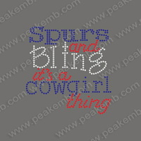 Hot Selling 30pcs/Lot Free Shipping Spurs And Biing It's A Cowgirl Thing Rhinestone Motif Rhinestone Heat Transfer For Tshirt