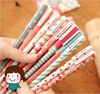 FREE SHIPPING 1LOT OF 5 set / wholesale korea stationery kawaii colourful gel pen 10pcs/set
