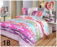 Promotion !!! Microfiber Printing BEDDING Bed Sheets 4pcs Bedding Set duvet cover set Free Shipping