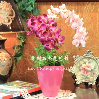 High artificial orchid set artificial flower home decoration flower artificial flower silk flower g