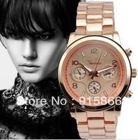 Hot-selling Geneva 2013 diamond quartz watch Wristwatches women men lady  ladies'  rose gold watches