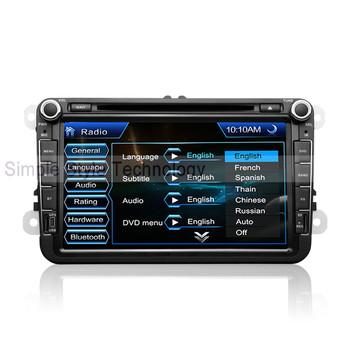 VW Passat B6 Car DVD Player, built-in GPS Navigation,2 din 8 inch car DVD.Free shipping