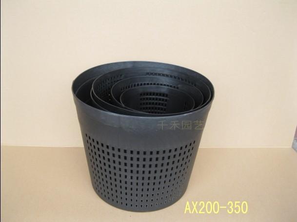 free shipping plastic flower pot mesh plants black basin ax200 350