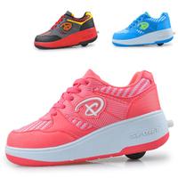 Boys & girls  heelys roller  automatic  shoes with singel wheel